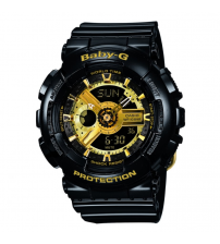 Casio BA-110-1AER Baby-G Combination Watch with 5 Alarms - Black