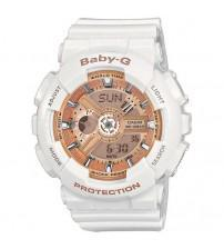 Casio BA-110-7A1ER Baby-G Combination Watch with 5 Alarms - White