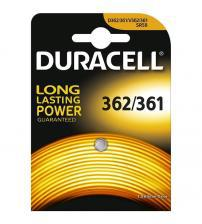 Duracell 362/361 Silver Oxide 1.5V Watch Battery Carded 1