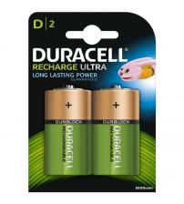 Duracell DURD3000 3000mAh D Rechargeable Batteries Carded 2