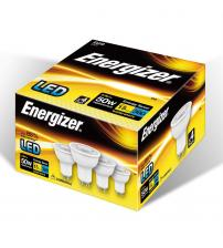 Energizer S10327 GU10 5.2W 380LM 36° Dimmable LED Bulb - Warm White Pack of 4