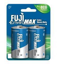 Fuji Z3-3100BP2 EnviroMax D Size Standard Zinc Batteries Carded 2