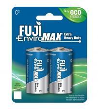 Fuji Z3-3200BP2 EnviroMax C Size Standard Zinc Batteries Carded 2