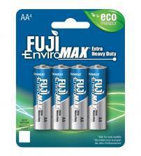Fuji Z3-3300BP4 EnviroMax AA Standard Zinc Batteries Carded 4