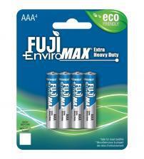 Fuji Z3-3400BP4 EnviroMax AAA Standard Zinc Batteries Carded 4
