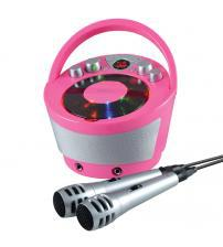 Groov-e GVPS923PK Portable Karaoke Boombox with CD Player and Bluetooth Playback - Pink