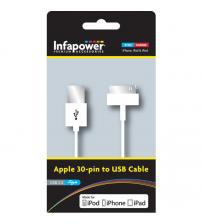 Infapower P010 Apple 30 Pin Sync Cable to USB Cable
