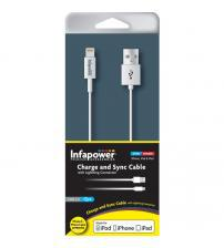 Infapower P011 Apple Lightning to USB 2.0 Cable - White