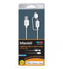 Infapower P026 Apple Lightning & Micro USB Combo Cable