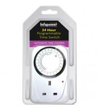 Infapower X011 Programmable 24 Hour Switch Timer - White