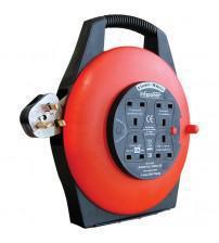 Infapower X812 4 Socket 13 Amp 10 Metre Enclosed Drum