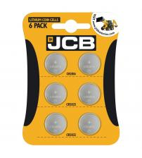 JCB S4901 3V Lithium Coin Cells Pack of 6 Mixed Cells