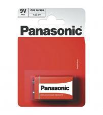 Panasonic 6F22RZ/1BP Zinc Carbon PP3 9V Size Batteries Carded 1