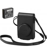 Panasonic TZ100KIT-LE-K Leather Case & Battery Accessory Kit