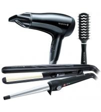 Remington S3500GP Hair Dryer Wand Straightener & Brush Gift Set