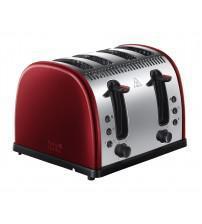 Russell Hobbs 21301 Legacy 4 Slice Toaster - Metallic Red