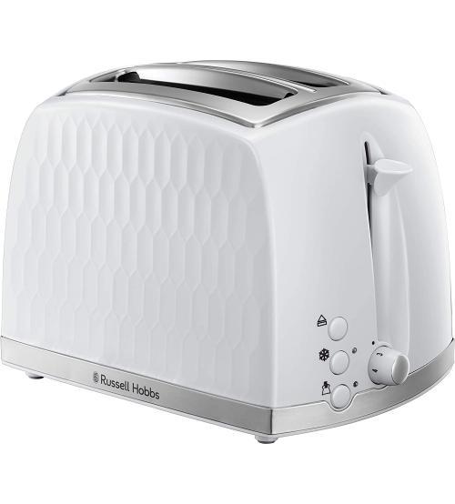 Russell Hobbs 26060 2 Slice Honeycomb Toaster - White