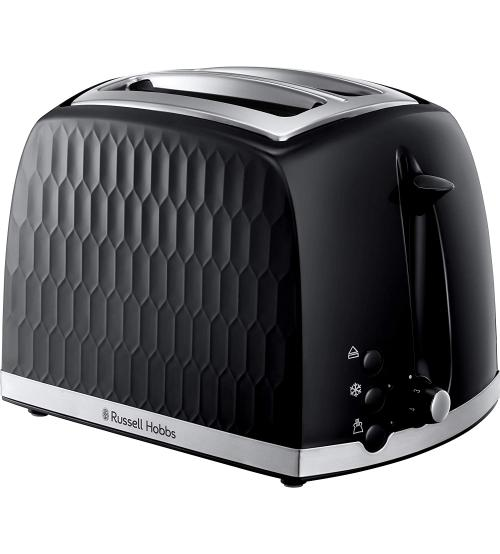 Russell Hobbs 26061 2 Slice Honeycomb Toaster - Black