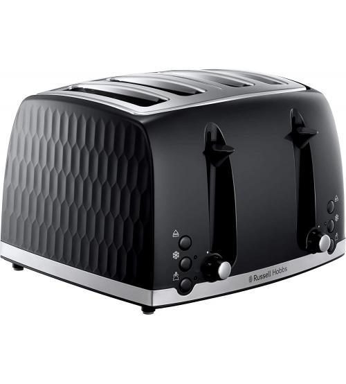 Russell Hobbs 26071 Honeycomb 4 Slice Toaster - Black