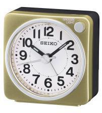 Seiko QHE118G Bedside Alarm Clock - Gold