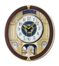 Seiko QXM356B Melody in Motion Wall Clock with Rotating Pendulum
