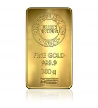 Sharps Pixley Gold Bullion Bar 100g Minted Bar 999.9 Pure