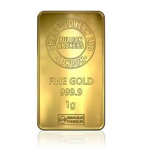 Sharps Pixley Gold Bullion Bar 1g 999.9 Pure