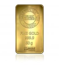 Sharps Pixley Gold Bullion Bar 50g Minted Bar 999.9 Pure