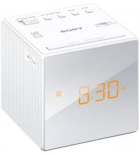Sony ICF-C1 Cube Clock AM/FM Radio Tuner with Auto Set - White