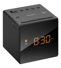 Sony ICF-C1 Cube Clock AM/FM Radio Tuner with Auto Set - Black