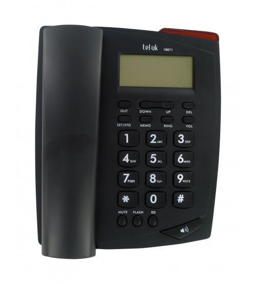 TEL UK 18071 Venice Phone Caller ID Telephone Set - Black