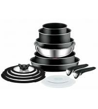 Tefal L2009542 Ingenio Essential 14 Piece Pots & Pans Set - Black