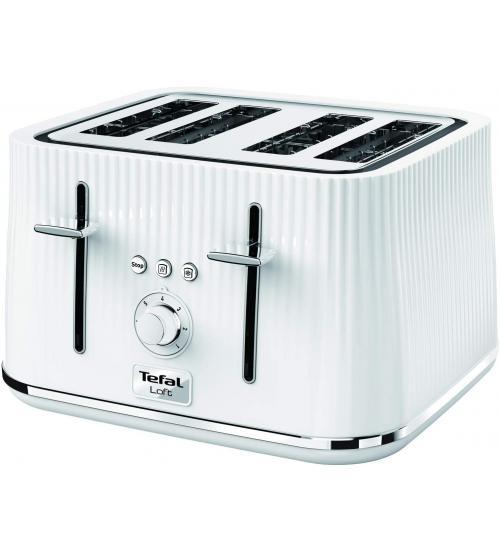 Tefal TT760140 1700W 4 Slice Loft Toaster - Pure White